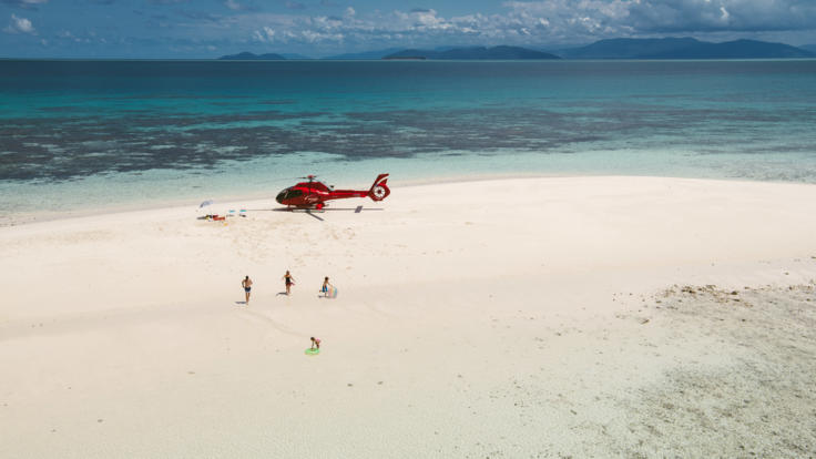 Port Douglas Helicopter Flight - Great Barrier Reef Secluded Sand Cay Experience