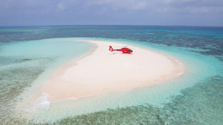 Cairns Helicopter Flight - Exclusive Vlasoff Cay tour- secluded snorkelling