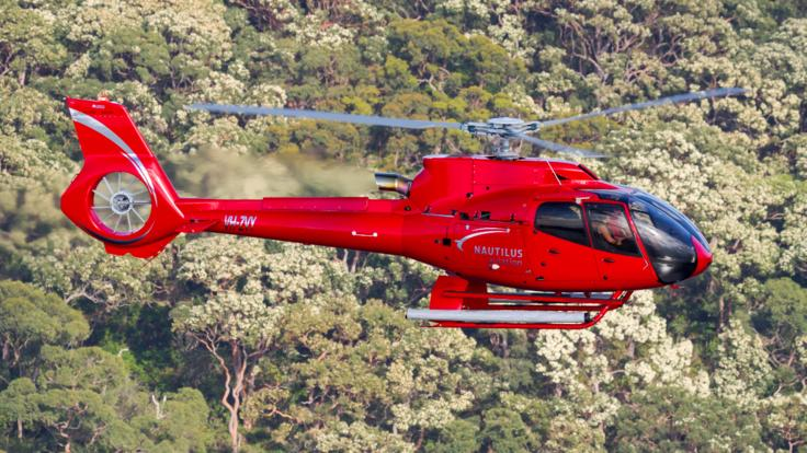 Luxury helicopter flight to the Aussie Outback