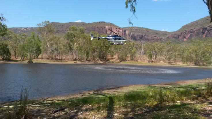 Explore the outback after arriving in your luxury helicopter