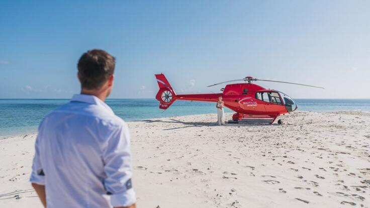 Port Douglas Helicopter Flights - Land on A Sand Cay - Romantic Couple Flights