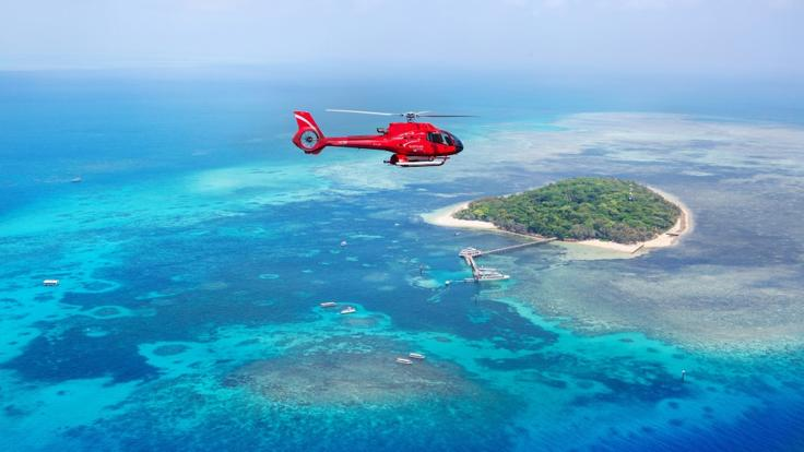 Great Barrier Reef Scenic Helicopter Flights & Green Island