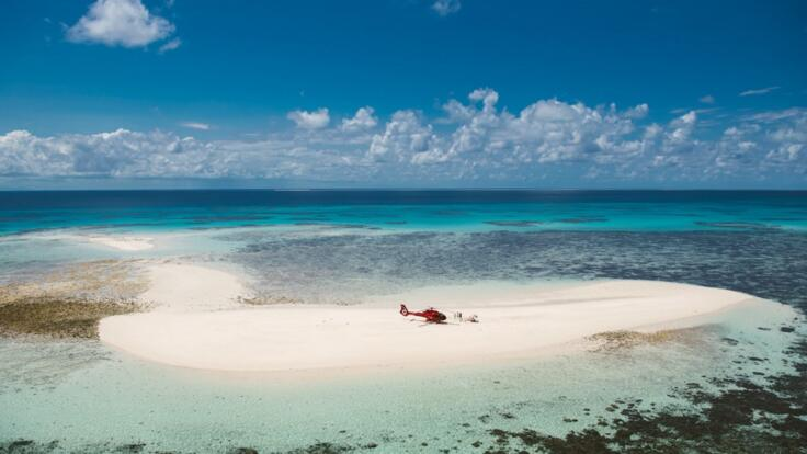Exclusive Cairns Tours - Helicopter Flight Great Barrier Reef Sand Cay