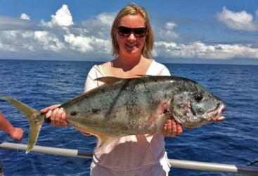 Go fishing for Giant Trevally on the Great Barrier Reef
