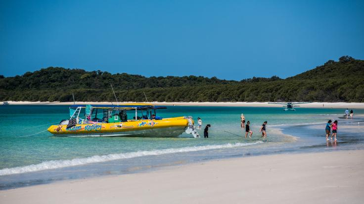 High Speed Ocean Rafting Boats on Whiteahaven Beach Tour in the Whitsundays - Great Barrier Reef - Australia