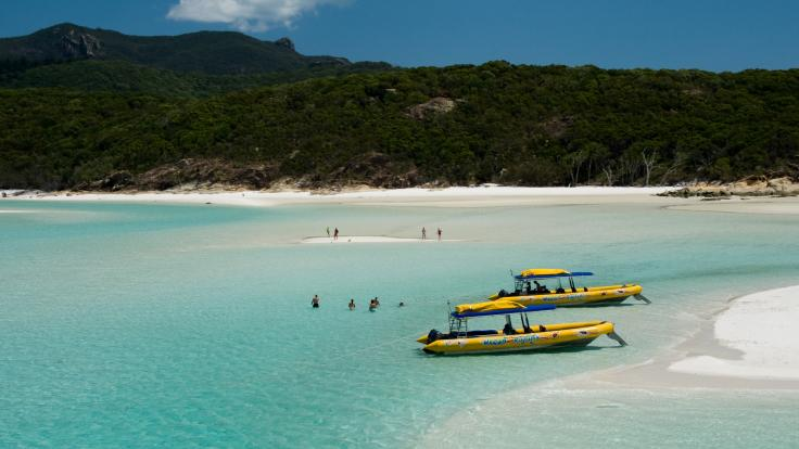 Private charter options available for up to 200+ guests on an exhilarating ride to Whitehaven Beach