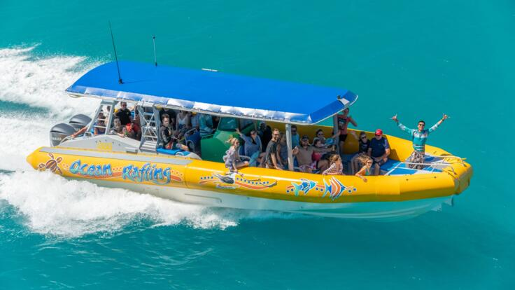 High Speed Rafting Boat in The Whitsundays - Great Barrier Reef Australia