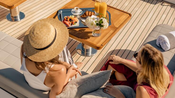 Whitsunday Yacht Charters - Relaxing on deck