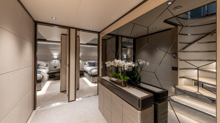 Superyachts Hamilton Island - View of two staterooms