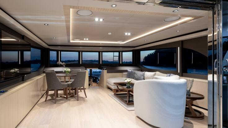 Yacht Charters Whitsundays - Upper Salon
