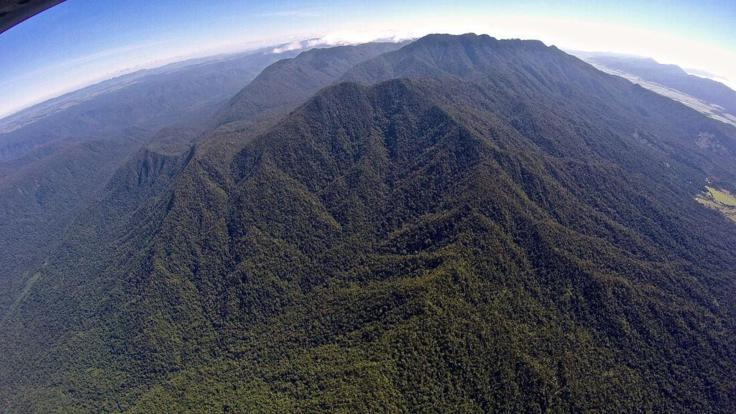 Aerial view of Mt Bellenden Ker south of Cairns