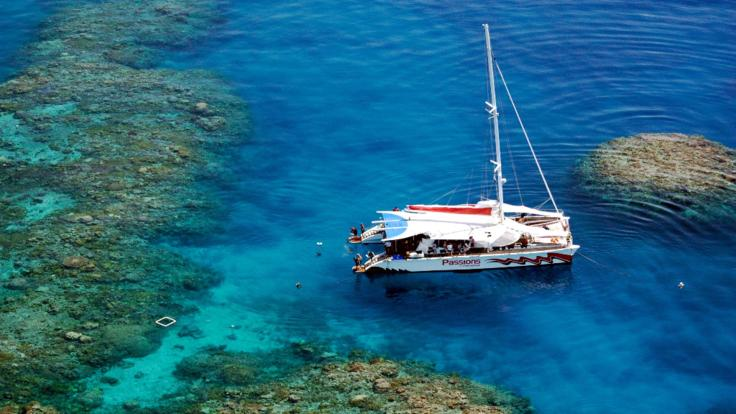 aerial view of new boat - Great Barrier Reef Australia