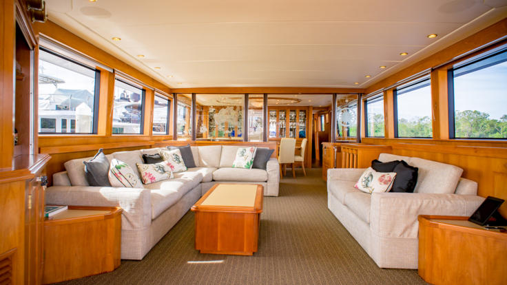Superyachts Great Barrier Reef - Super Yacht Interior Saloon - Great Barrier Reef - Australia