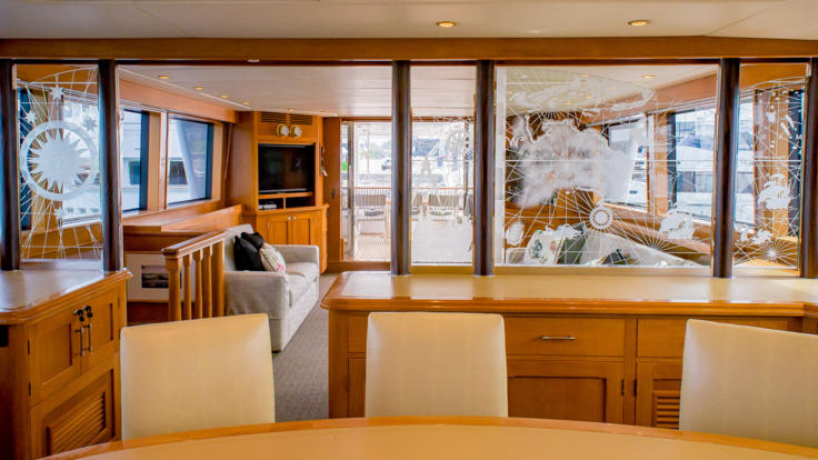 Great Barrier Reef Private Charter Super Yacht - Dining Room - Queensland - Great Barrier Reef - Australia