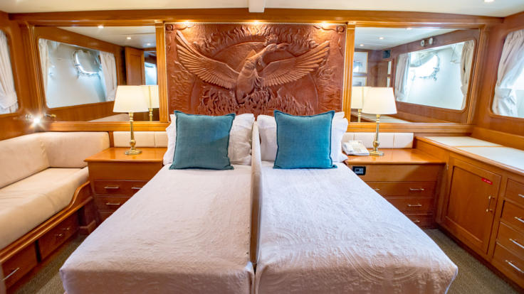 Overnight Luxury Private Charter Super Yacht for 8 Guests - Master Stateroom - Great Barrier Reef