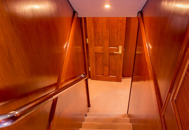 Superyachts Whitsundays - Private Charter Motor Yacht Great Barrier Reef - Australia  - Stairwell To Cabins