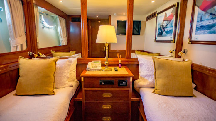Luxury Charter Yacht - Queensland - Great Barrier Reef  - Twin Stateroom
