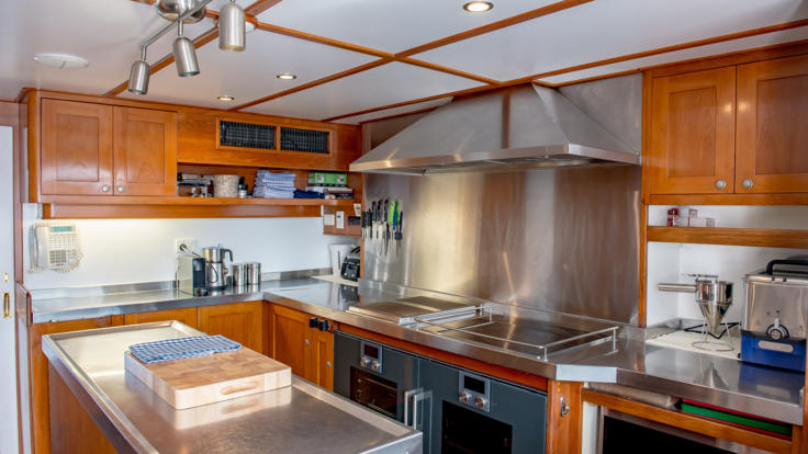 Luxury Private Charter Super Yacht Galley - Queensland - Great Barrier Reef - Australia