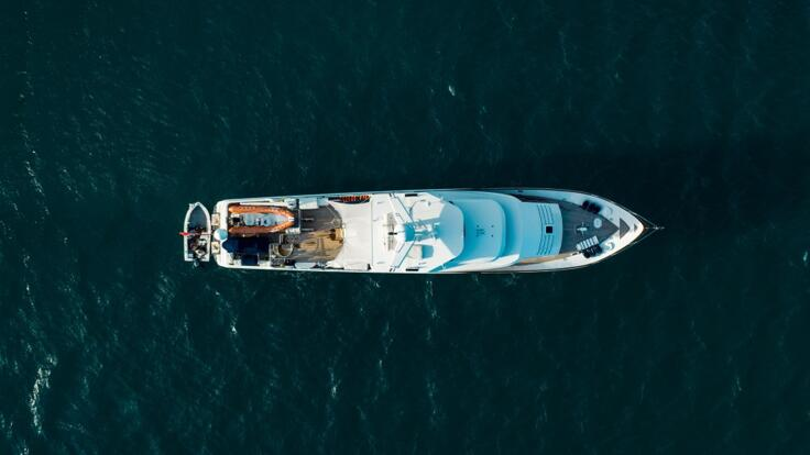 Superyacht Charters Great Barrier Reef - Aerial View