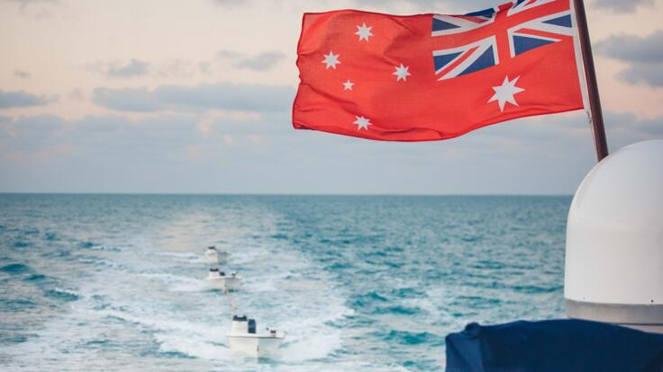 Superyacht Charter Whitsunday Islands - Great Barrier Reef - Flag