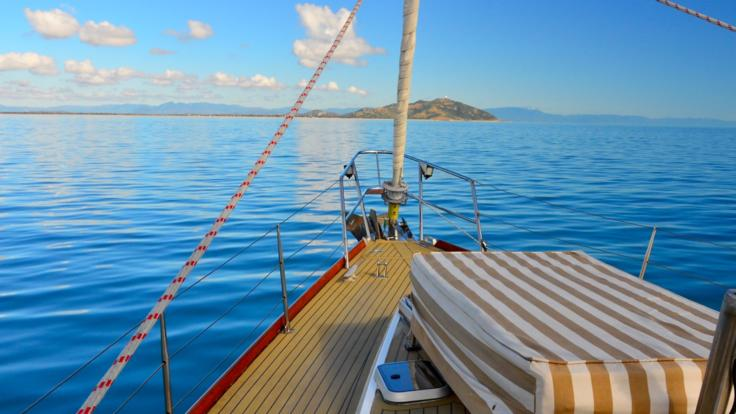 Plenty of space on board to enjoy a drink and the views over Magnetic Island