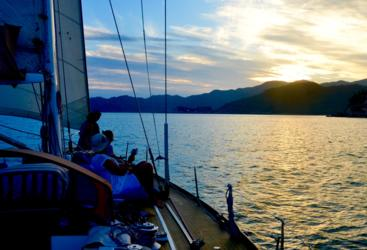 Small group sailing - see the sunset over Magnetic Island