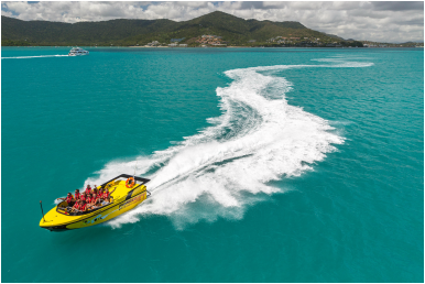 Fast boat fun - the best hour ever with 180 spins and more from Airlie Beach