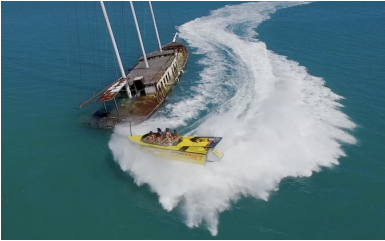 Hold on!  1 hour of thrills in Airlie Beach