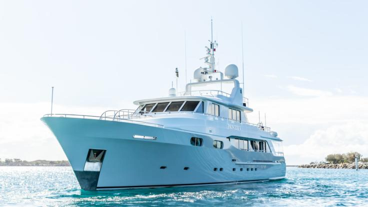 Large private superyacht Airlie Beach