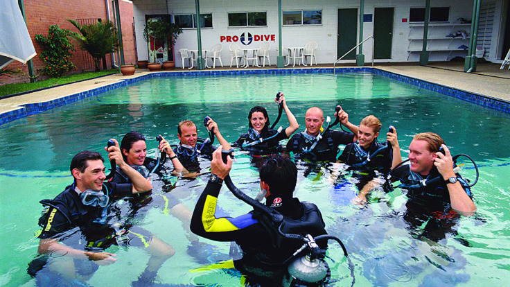 Begin your course in the Cairns Dive School pool