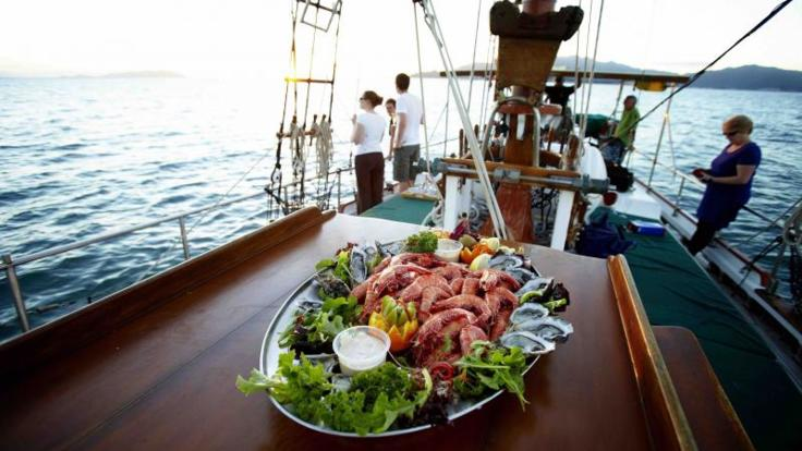 Enjoy seafood platter on board (Optional Extra)