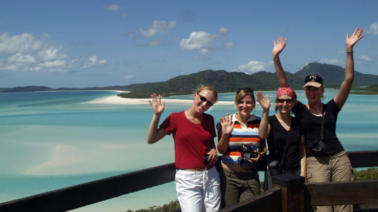 Take a scenic photo from Hill Inlet