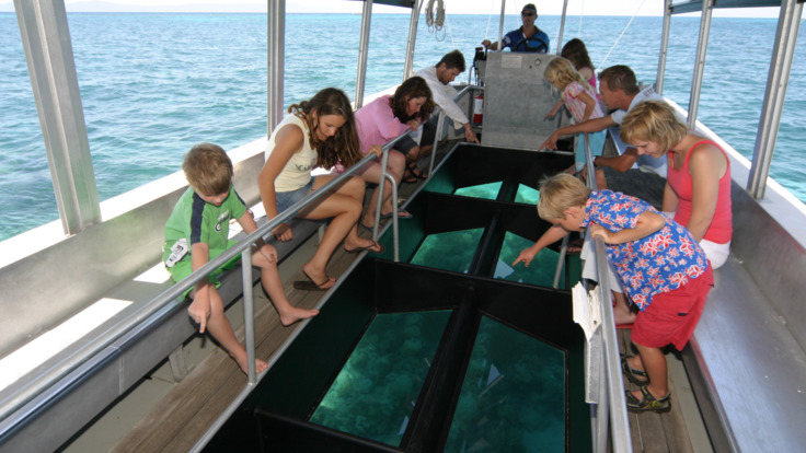 Many Great Barrier Reef tours also include glass-bottom boat tour