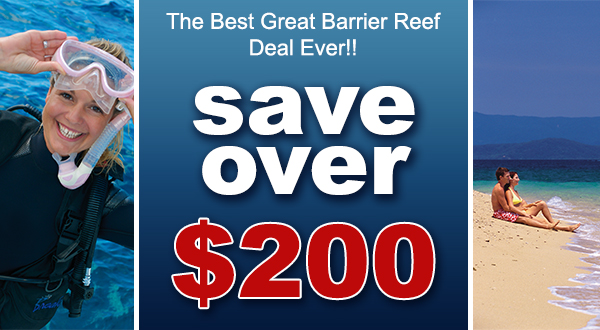 Save over $200 when booking 7 Day 3 Tours Ultimate Great Barrier Reef Pass!!!