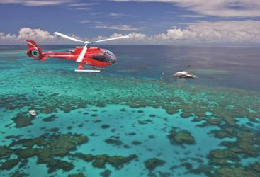 Fly and Cruise on the Great Barrier Reef in Australia