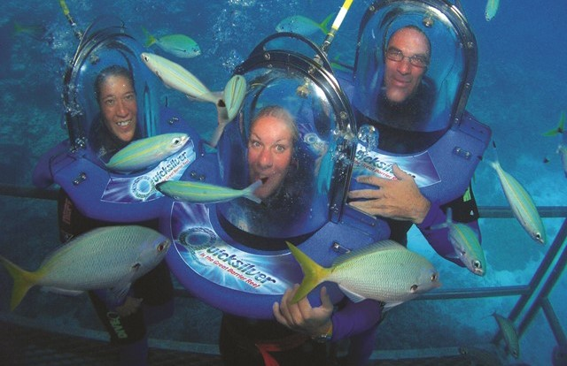 Enjoy Ocean Walker Helmet Diving on Great Barrier Reef Tour