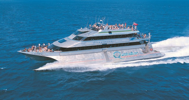 Smooth ride to the Great Barrier Reef from Port Douglas on Wavepiercer