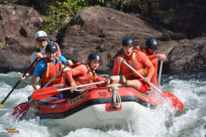 Action packed afternoon white water rafting on the Barron River in Cairns