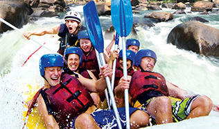 It's a pretty wild ride on the Tully White Water Rafting Tour