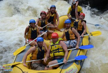 Guaranteed water levels all year round, Tully River white water rafting, Cairns
