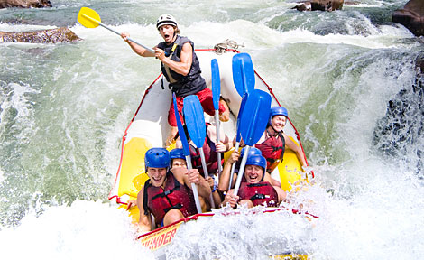 White water rafting on the Tully River, Australia's premier rafting location in Cairns