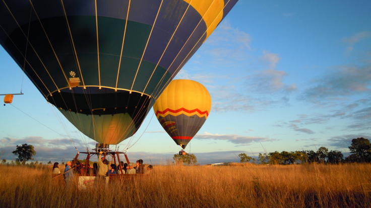 Hot Air Ballooning over the Mareeba Valley in Cairns