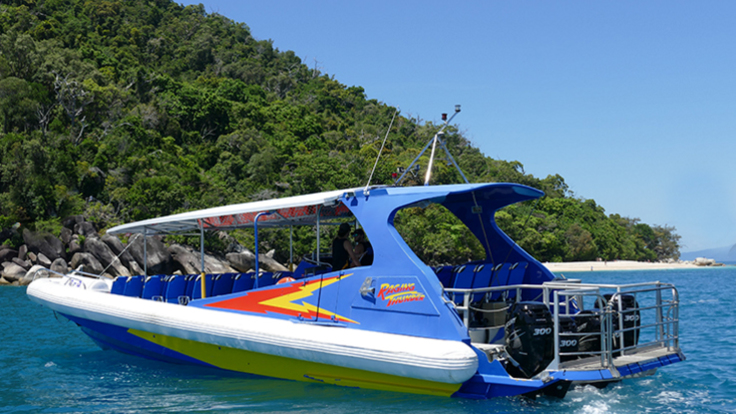 Fast boat to Fitzroy Island