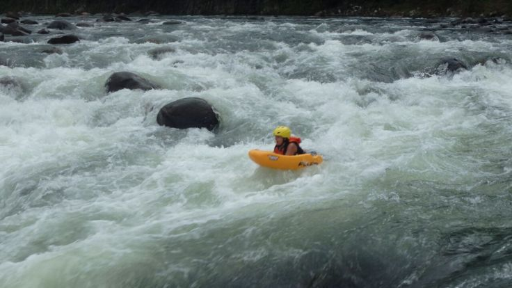 Hit the rapids and hold on tight .