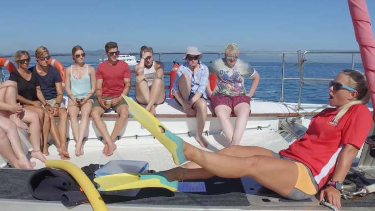 Barrier Reef Australia: Our crew will show you the correct way to snorkel and dive