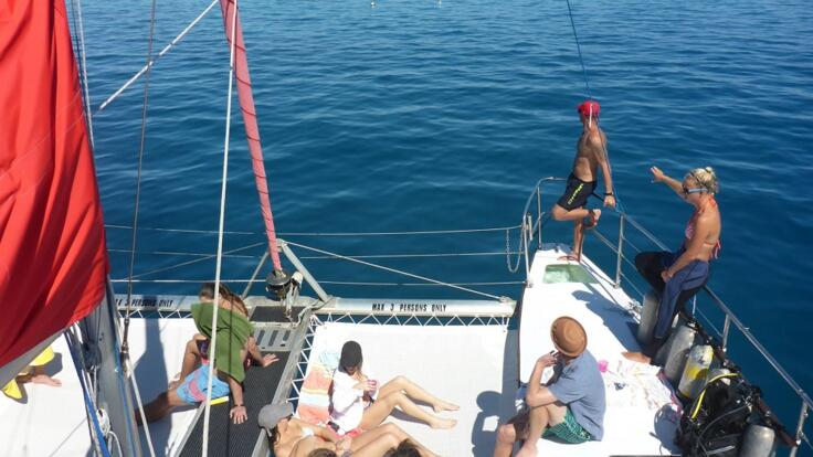 Great Barrier Reef Tours Cairns - Relax on the Boats Bow