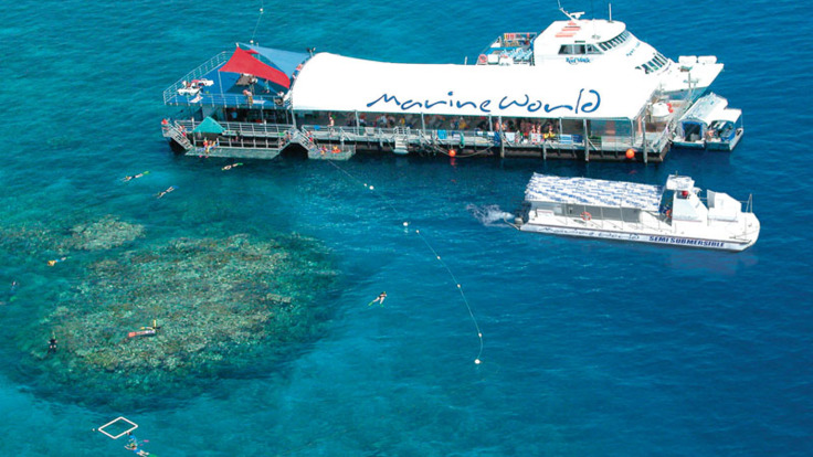 Marine World on the Outer Great Barrier Reef - Arrive here by helicopter