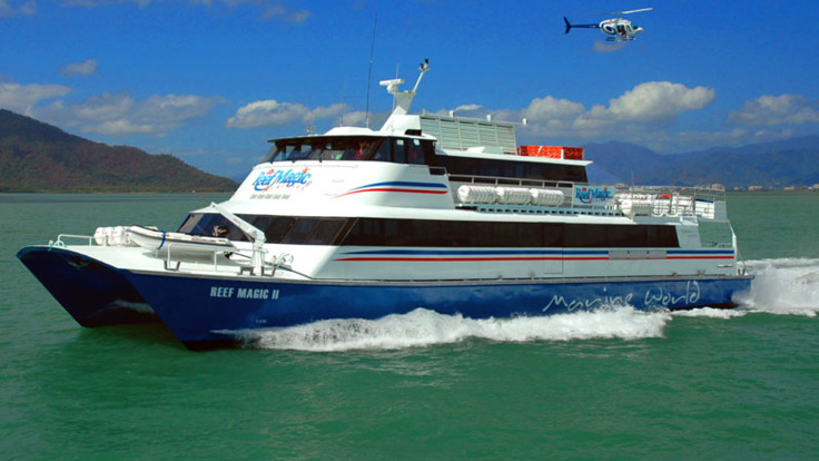 Fly Cruise - Cruise Fly Great Barrier Reef tours with Helicopter flights