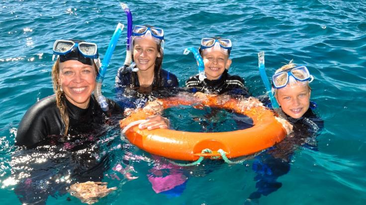 Join a guided snorkel tour on the Great Barrier Reef in Cairns, Australia