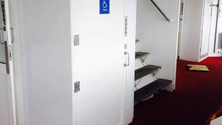 Disabled toilets on board the Cairns tour